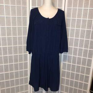 Old Navy deep blue pocket shirt dress XL